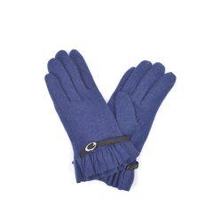 Buckle detail blue gloves
